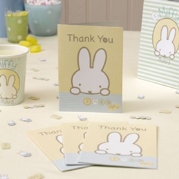 Baby Miffy Thank You Cars - pack of 10